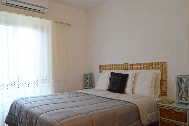 Green bedroom - Self catering house rental, San Felice Circeo, Italy, San Felice Circeo, Italy