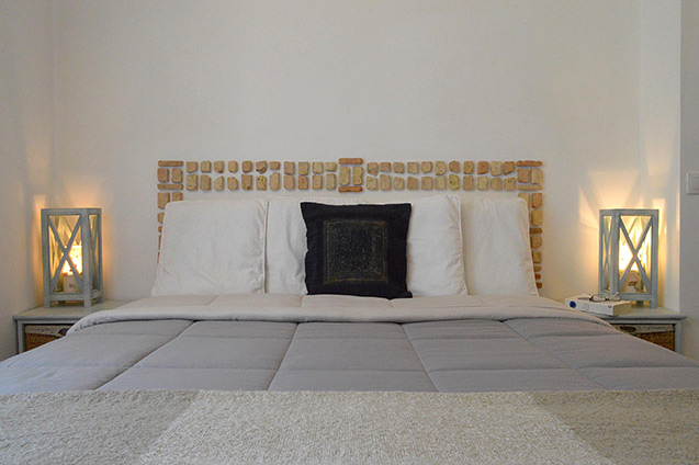 Green bedroom - Vacation rental, San Felice Circeo, Italy